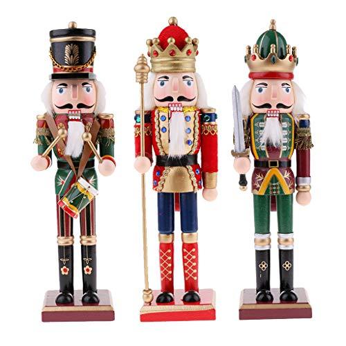yotijar Muñeca de Marioneta Modelo de Sólida de Madera de Cascanueces de 3 Piezas