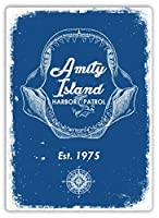 Amity Harbor Patrol 金属板ブリキ看板警告サイン注意サイン表示パネル情報サイン金属安全サイン