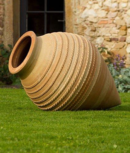 Alta calidad Terracota Ánfora, puntiaguda, resistente a heladas, decoración tumbado para el jardín 50–110cm vitex