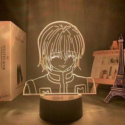 Lámpara de ilusión 3D Kurapika Figura Acrílico Anime Hunter X Hunter para decoración de dormitorio de niños Habitación de niños Noche Hxh-16_Color_With_Remote