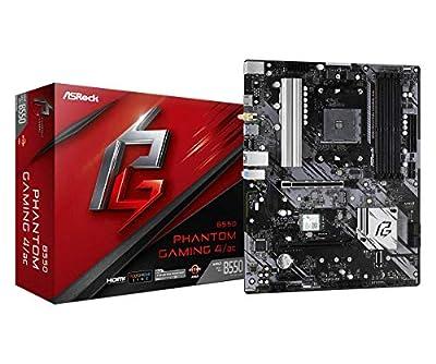 ASRock B550 Phantom Gaming 4 AC Supports 3rd Gen AMD AM4 Ryzen/Future AMD Ryzen Processors Motherboard