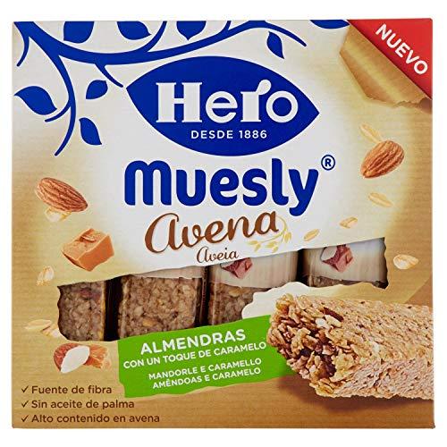 Hero Barrette ai Cereali e Avena con Mandorle e Caramello - 140 g