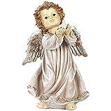 J.Mmiyi Estatua Angel Jardin Decorativa Figura, Escultura Moderna con Luz LED, Césped Patio Casa Decoración, Regalo De Inauguración De La Casa,B