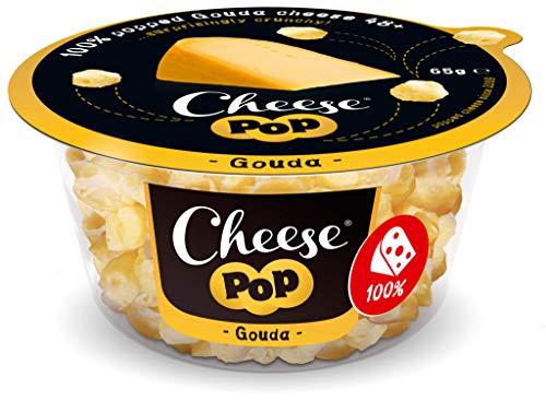 Cheesepop Gouda, 100{99d4d1ca51c9ccbb4a24dc1c420f23078166a2453504502f9e3644e7686d4749} Käse …überraschend knusprig & luftig! 12er Pack (12 x 65 g) - high in protein, source of calcium, vegetarian, gluten free, no carbs, no preservatives, no coloring, keto friendly!
