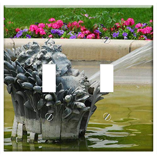 Switch Plate Double Toggle - Fountain Water Paris French France Park Spray