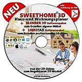 Sweet Home 3D® Version 6.0 'SWEET HOME 3D' NEU Haus-und Wohnungsplaner 3D Software Premium PLUS= BLENDER und LIBRE-CAD
