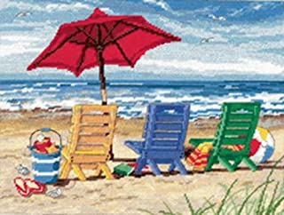 beach scene needlepoint canvas