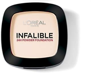L'Oreal Paris Infallible 24Hr Compact Powder - 9 ml, Warm Vanilla 123