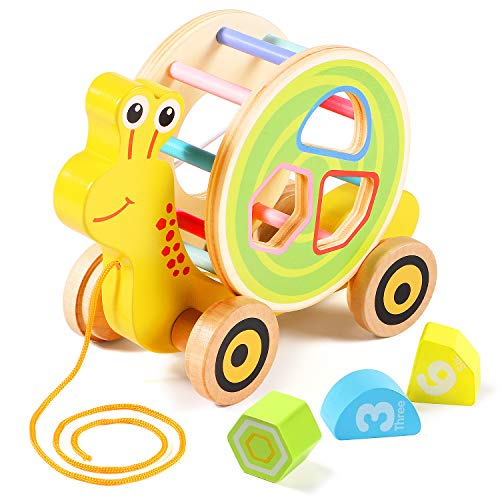Lewo Pull Toy with Shape Sorter ...
