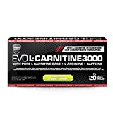 Carnitina Líquida de HSN | Evo L-Carnitine 3000 | Pérdida de Peso, Quemagrasas, Fat burner con Arginina, Cafeína, Apto para vegetarianos, Sabor Limón, 20 Viales