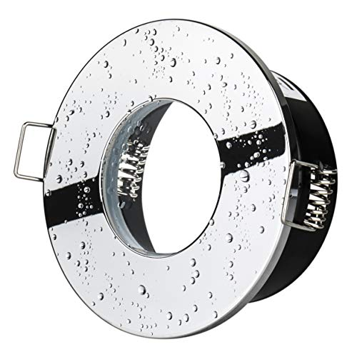 Bad inbouwspot Aqua 2.0 IP65 chroom 230 volt GU10 fitting inbouwlamp spatwaterdicht jong licht badstraal badverlichting luifel verlichting