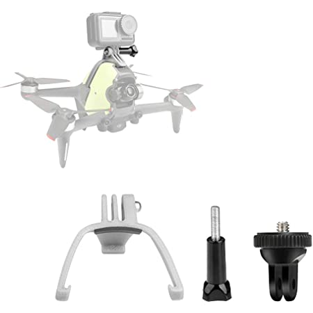 Honlyn Mount Adapter Bracket for DJI FPV Drone,Compatible with Gopro 9 8 7 /for Insta360 ONE R/for DJI Osmo Pocket 1 2