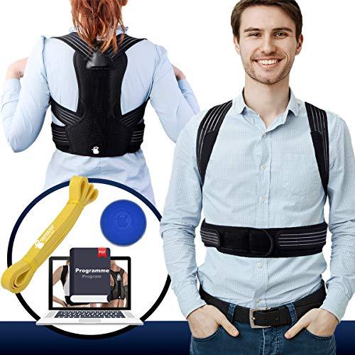 TRAINEATWELL- Rücken Geradehalter zur Haltungskorrektur Rücken Herren. Schultergurt Haltungskorrektur Rücken Damen. Rückengurt Geradehalter. Rückenstütze Haltungskorrektur. Ruckenhalterung Korrektur