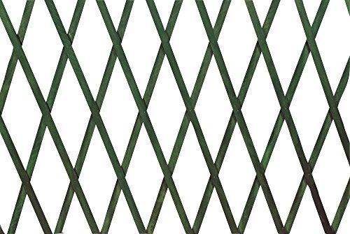 VERDELOOK Traliccio Estensibile in Legno, 150x200 cm, Verde, Decorazioni terrazza