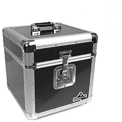 "Gorilla GC-LP100 100x 12"" Vinyl Record Box (Carbon Fibre Style))"