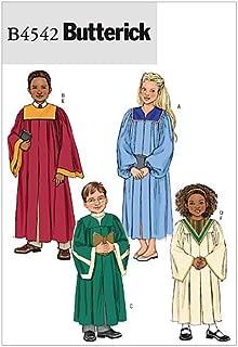 BUTTERICK PATTERNS B4542 Children's/Boys' / Girls' Robe and Collar, Size CX (XSM-SML)