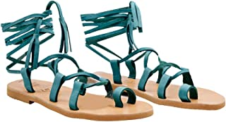 AlexAndrea Living Ancient Greek Style Sandals Women's Toe Gladiator Leather Sandal