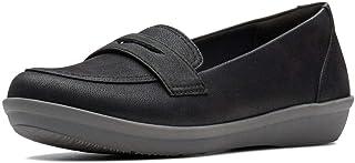 Clarks Flat Shoe for Women, Size 4.5 UK, Black