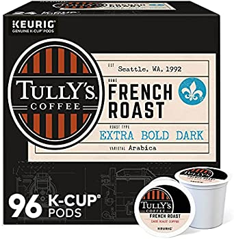 96-Count Tully's Single-Serve Keurig K-Cup Dark French Roast Coffee Pods