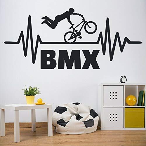 mlpnko Mountainbike BMX Wandtattoo Extremsport Stunt Kinderzimmer Club Interieur,CJX10550-55x123cm