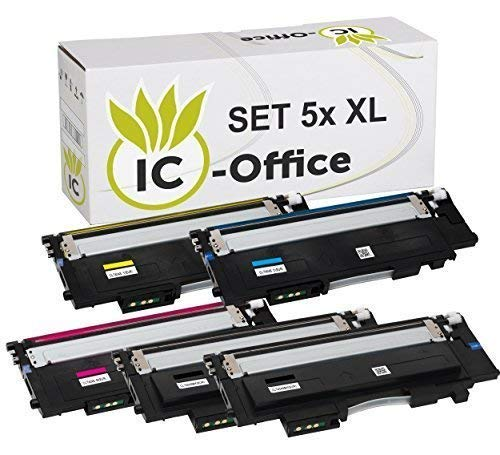 IC-Office 5X XL Toner Set Multipack kompatibel für Samsung CLT-404S-ELS CLT-404S CLT-404 CLT-P404C für Xpress C430 Series C430W C480 Series C480FN C480FW C480W