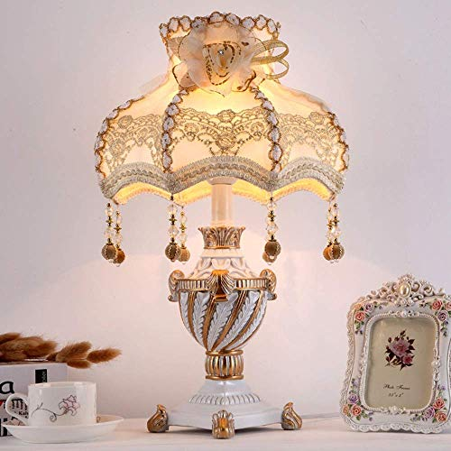 Dightyoho Lámpara Escritorio Lámpara de cabecera de Dormitorio Europeo Moda Creativa decoración Moderna Sala de Bodas Patio Luminoso lámpara de Mesa de Corte de Boda