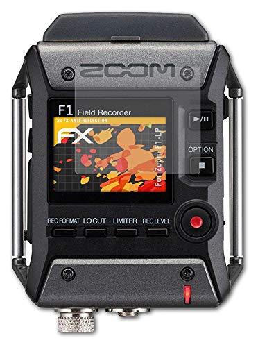 atFoliX Panzerfolie kompatibel mit Zoom F1-LP Schutzfolie, entspiegelnde & stoßdämpfende FX Folie (3X)