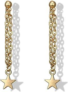 Star Earrings Gold Star Drop Earrings Charm Earring Jewelry for Women and Girls