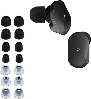 kwmobile 14 x vervangende pads compatibel met Sony WF-1000XM3-4 maten - siliconen vervangende oordopjes in-ear hoofdtelefo...