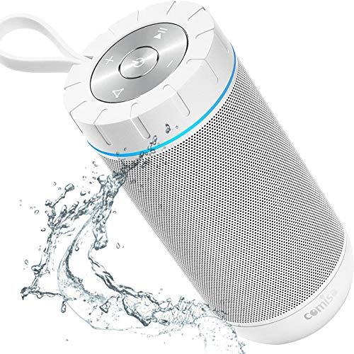 COMISO Waterproof Bluetooth Speakers Outdoor Wireless Portable Speaker with 20 Hours Playtime...