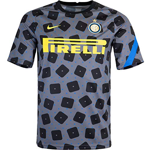Nike Camiseta Inter Milan PreMatch (XXL, gris)