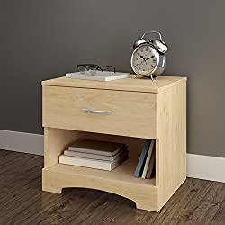 South Shore Step One 1-Drawer Nightstand-Natural Maple