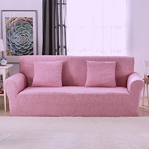 1 2 3 4 Sitzer Sofa Sofabezug Elastischer Sofaüberwurf Rutschfeste Stretch Hussen für Sofa, Einfarbig, Polyester/Elasthan,mit Leinenmuster...