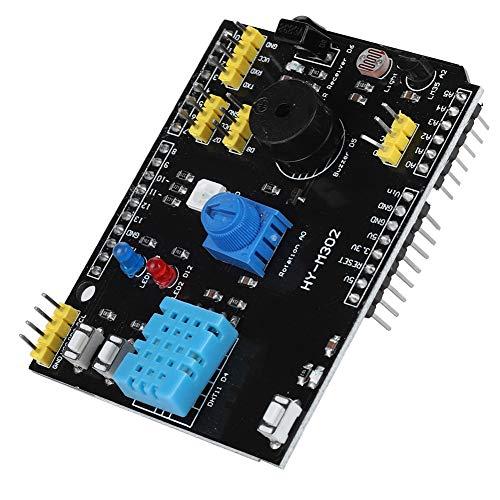 Diyeeni Tarjeta de expansión multifunción 9 en 1 para el módulo LED UNO Arduino LM35/DHT11 para Uso prolongado