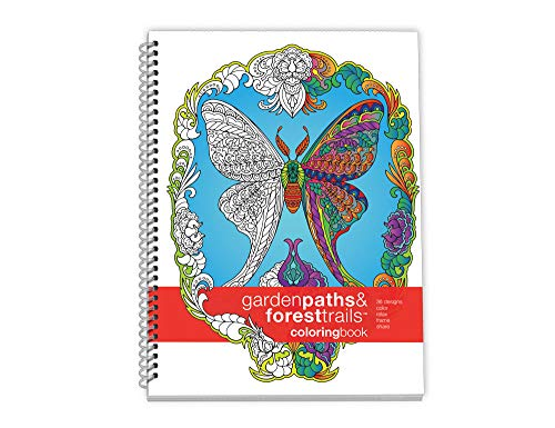 Action Publishing Coloring Book: Garden Paths & Forest Trails · Garden and Woodland Scenes,...