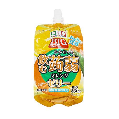 こんにゃくゼリー ヨコオデイリーフーズ BIG飲む蒟蒻ゼリー オレンジ 260g 30個入