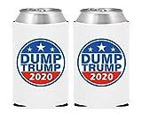 Biden 2020 Can Koozies – Neoprene Beer Can Cooler, American Flag Biden Koozies – Set of 2 (DT2020STAR-WHT)