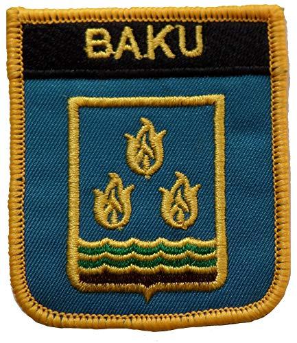 Aufnäher, 1000 Flaggen, Baku Aserbaidschan, bestickt