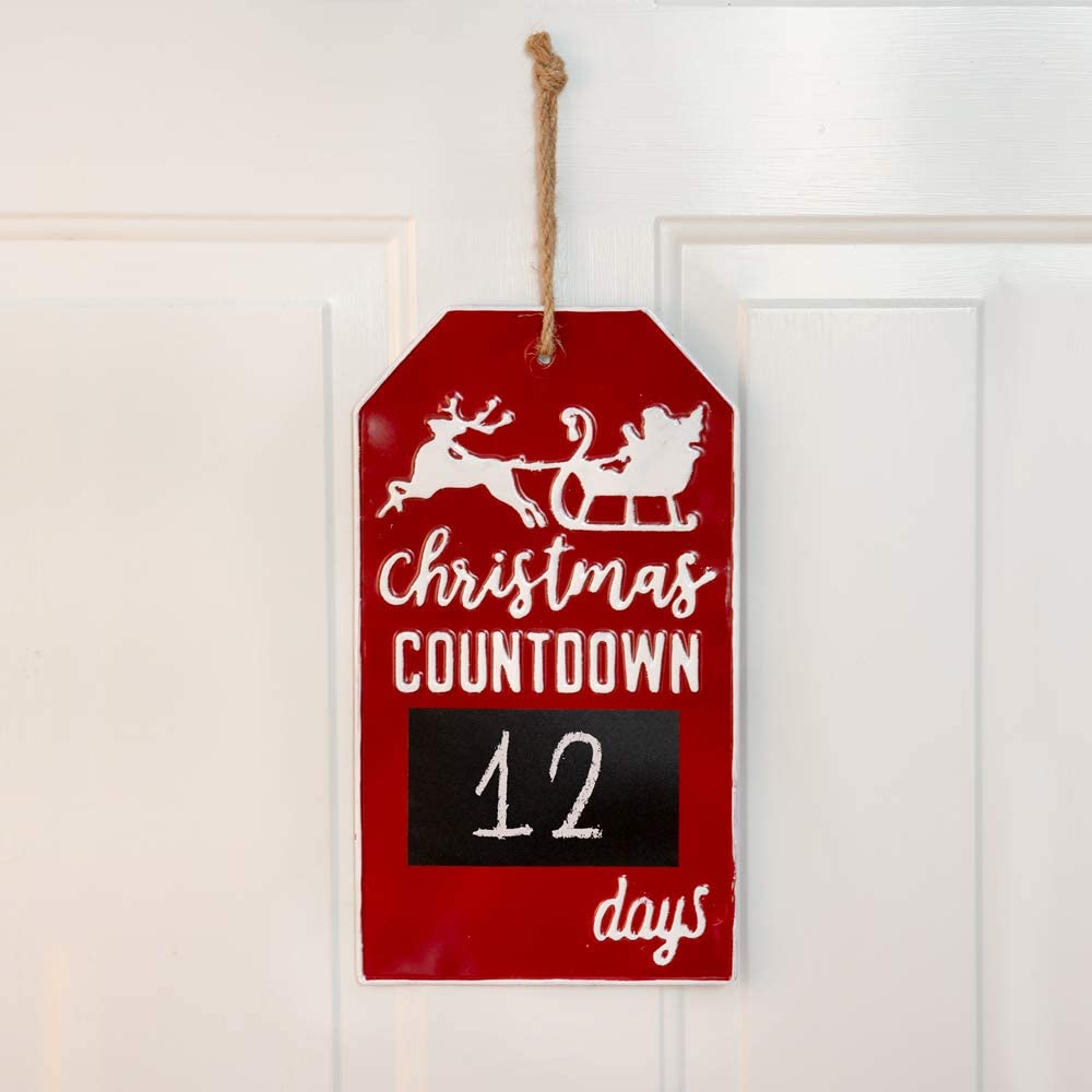 CTW Home Collection Christmas Finally resale Boston Mall start Countdown Wall Metal Sign with Cha