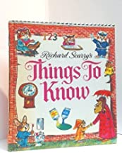Richard Scarry's Things to Know (The Look and Learn Library)