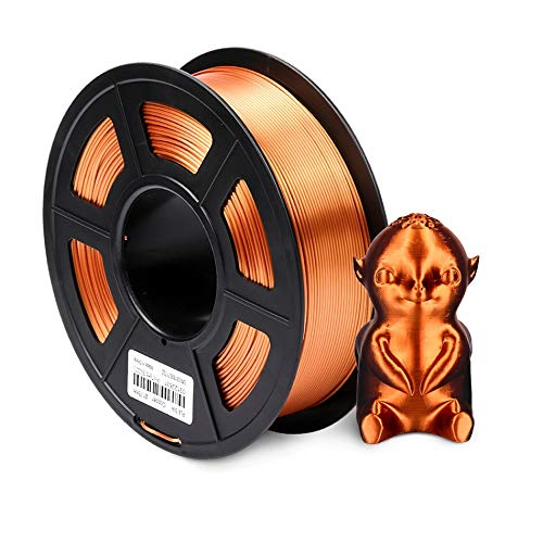 TongGuo 1.75mm PLA SILK Rainbow 3D printer Filament tangle free 100% no bubble with Vacuum bag packing Tolerance +/-0.02mm (Color : SILK RC 1KG)