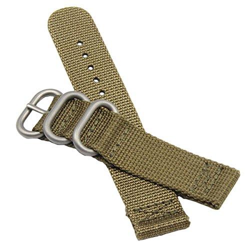 20mm Khaki luxuriöses Militär strapazierfähiges Nylon NATO-Stil Uhrenarmbänder Bänder Ersatz für Männer