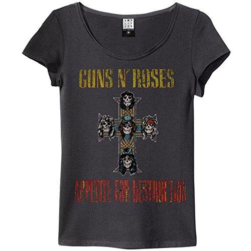 GUNS N ROSES ガンズアンドローゼズ (デビュー35周年記念) - APPETITE FOR DESTRUCTION/Amplified( ブランド ) / Tシャツ/レディース 【公式/オフィシャル】