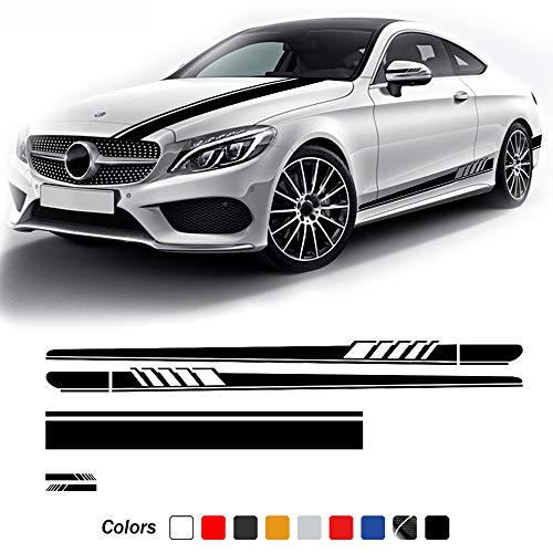 SBCX pour Mercedes Benz ACE GLA CLA Classe AMG W204 W205 C63 A45, Porte Bandes latérales Jupe Autocollant rétroviseur Vinyle Voiture Capot décalcomanie