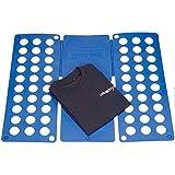 K KLACK PriceQuality Tabla Doblador de Ropa Portatil 59 x 69 cm Toallas Azules Ropa Camisas Pantalones Ropa Camiseta Polo Fácil de Usar