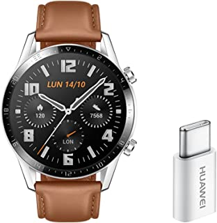 HUAWEI Watch GT 2, 2 Week Battery Life, 15 Workout Modes and Full-time Fitness Trainer, 46mm with an Additional Strap in B...