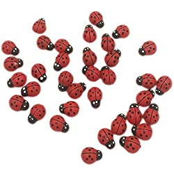 Painted Wooden Ladybugs