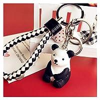 キーチェーン 新しい漫画動物キーホルダー樹脂かわいいウサギ恐竜パンダキーホルダーカップルバッグカーペンダントキーリングアクセサリー子供おもちゃの贈り物 (Color : Pink)