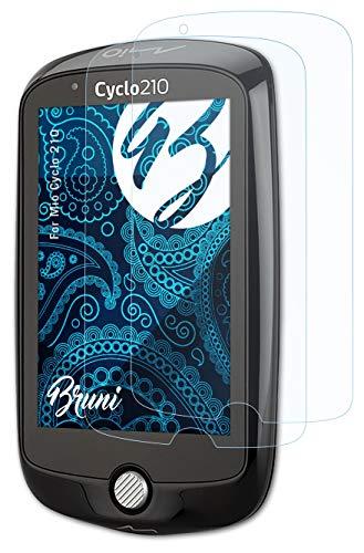 Bruni Schutzfolie kompatibel mit Mio Cyclo 210 Folie, glasklare Bildschirmschutzfolie (2X)
