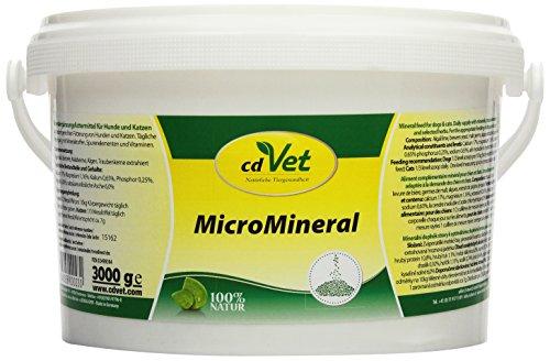 cdVet Naturprodukte - 23 / MicroMineral - Complément alimentaire riche en minéraux - Chiens et chats - 3 kg